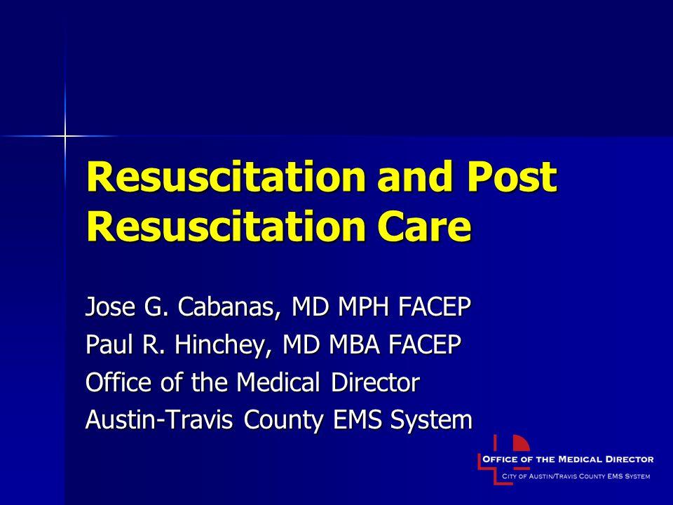 Resuscitation and Post Resuscitation Care