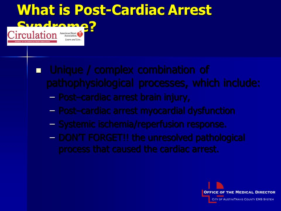 What is Post-Cardiac Arrest Syndrome