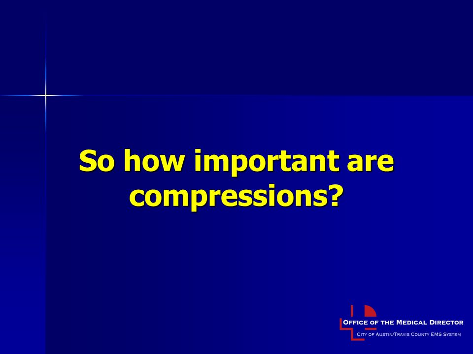So how important are compressions