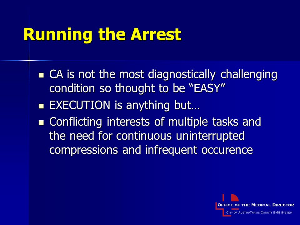 Running the Arrest CA is not the most diagnostically challenging condition so thought to be EASY EXECUTION is anything but…