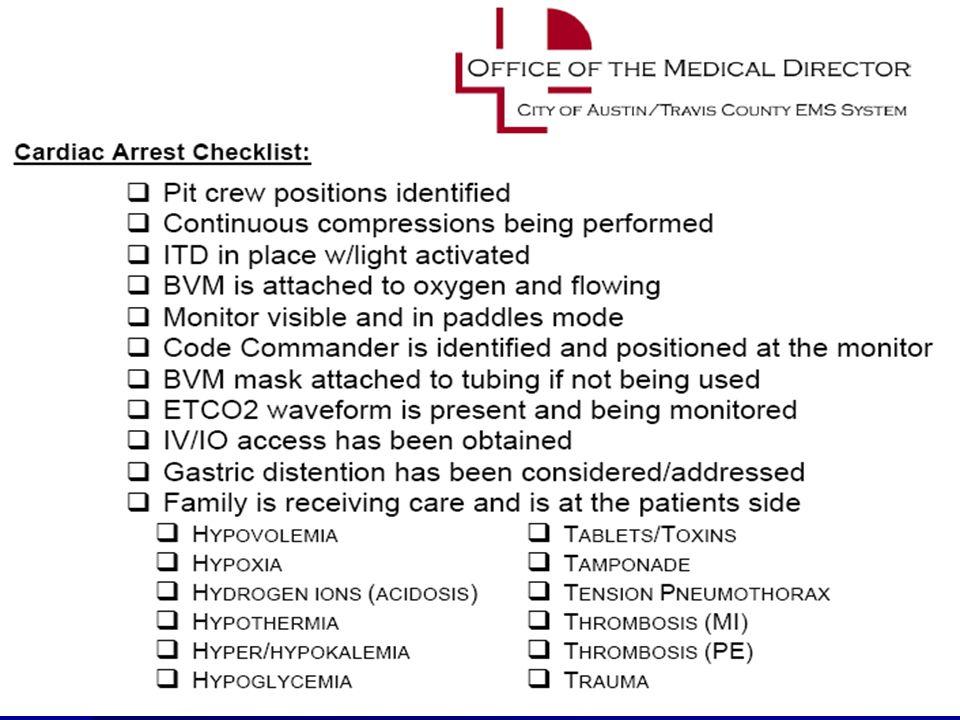 Need cpr checklist ©2010 Paul R. Hinchey