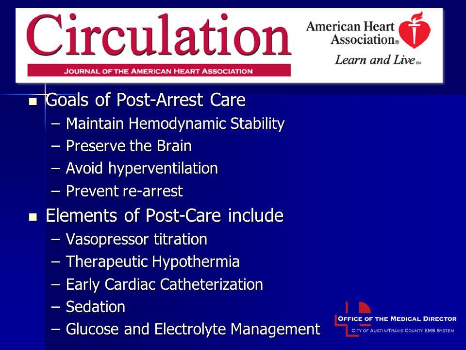 Post-Resuscitation Care