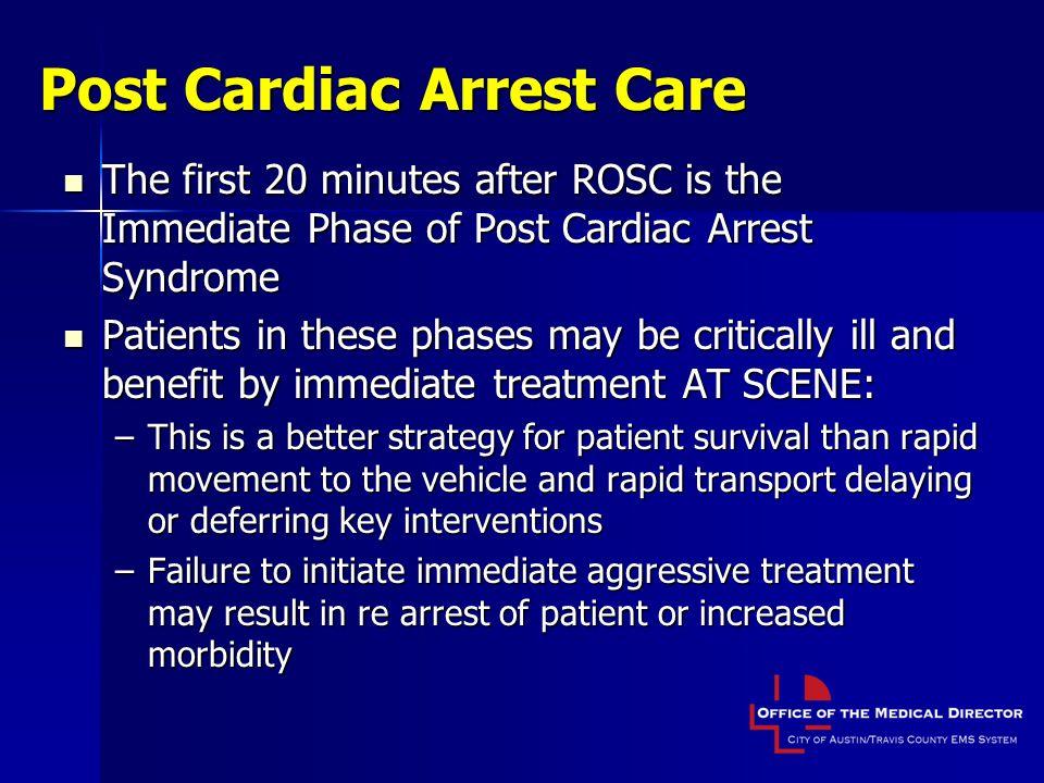 Post Cardiac Arrest Care