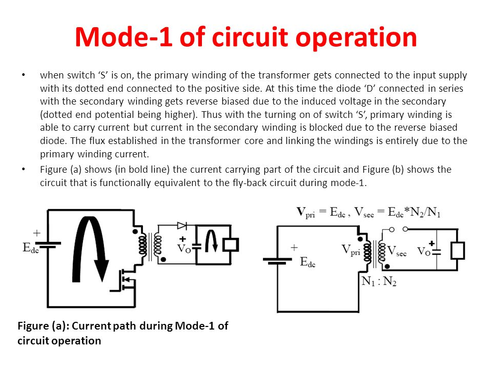 Mode-1 of circuit operation