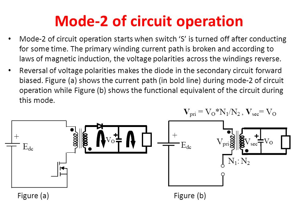 Mode-2 of circuit operation
