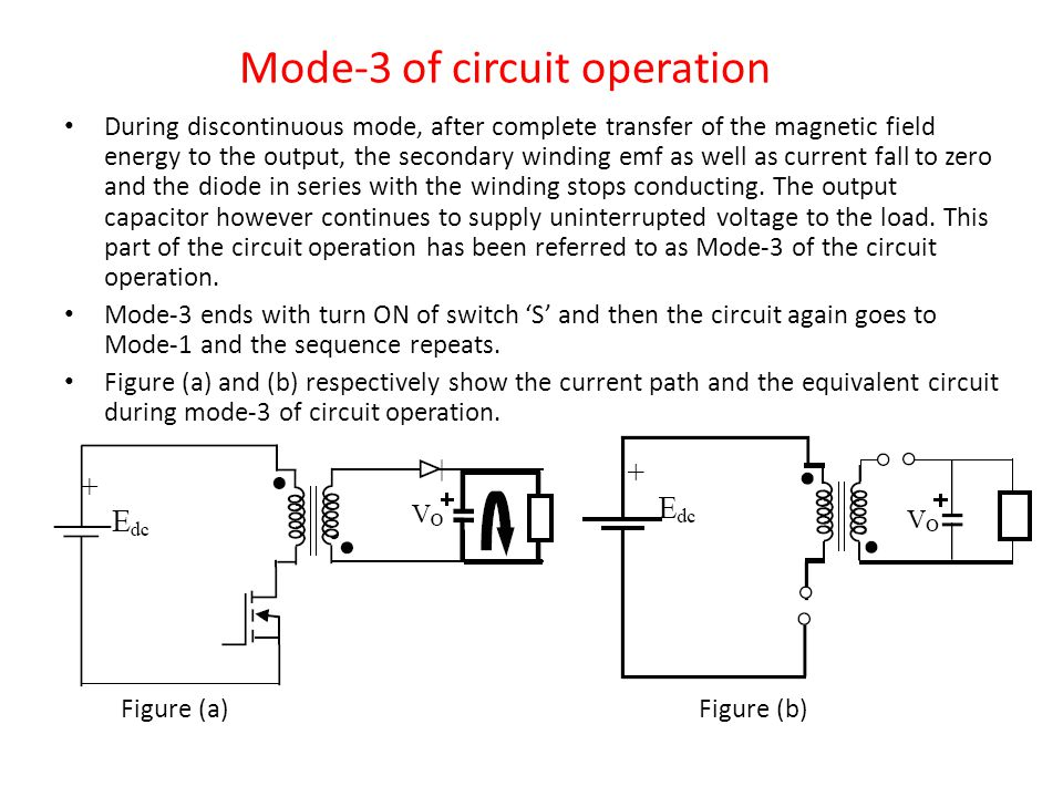 Mode-3 of circuit operation
