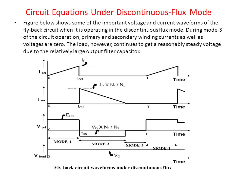 Circuit Equations Under Discontinuous-Flux Mode