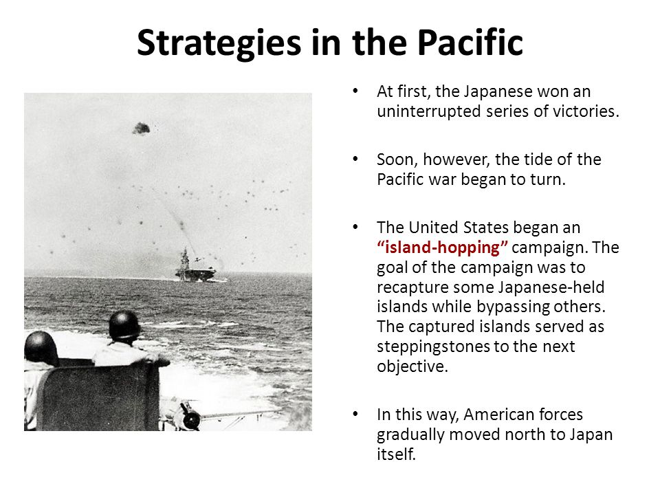 Strategies in the Pacific