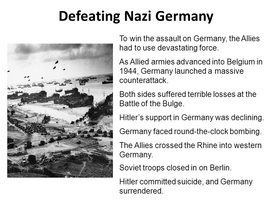 Defeating Nazi Germany