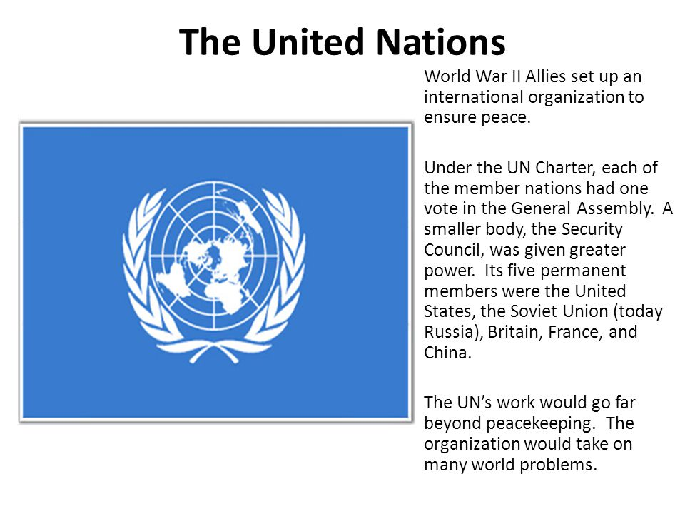 5 The United Nations.