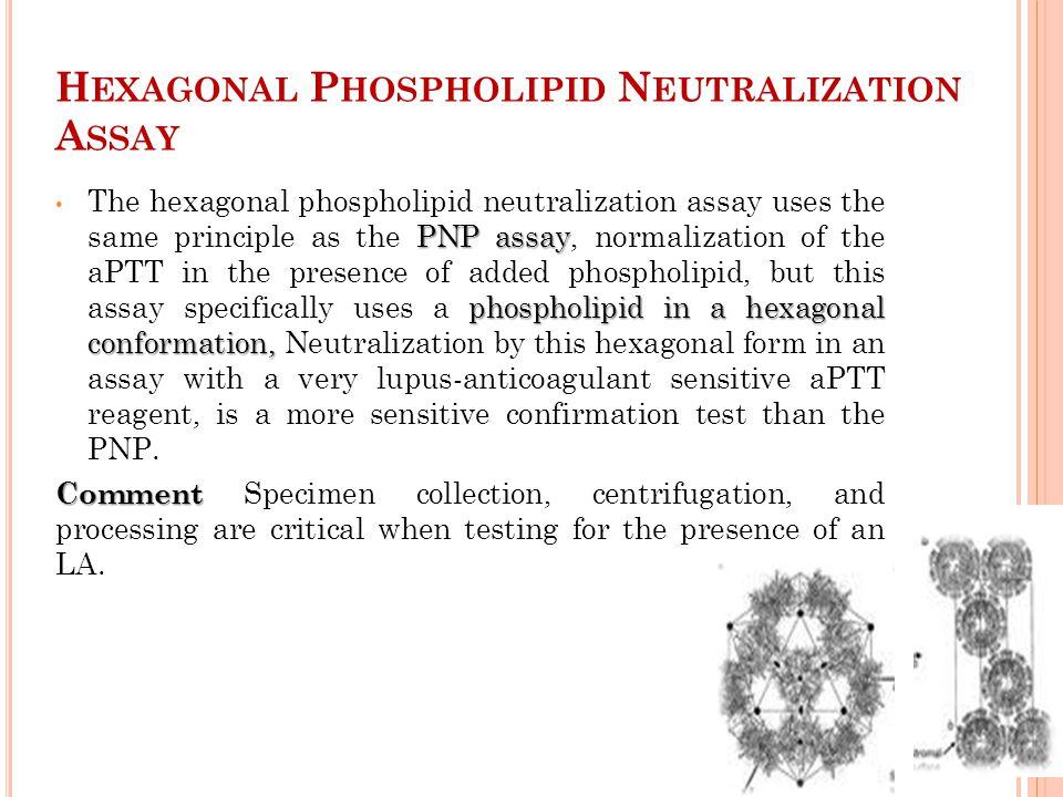 Hexagonal Phospholipid Neutralization Assay