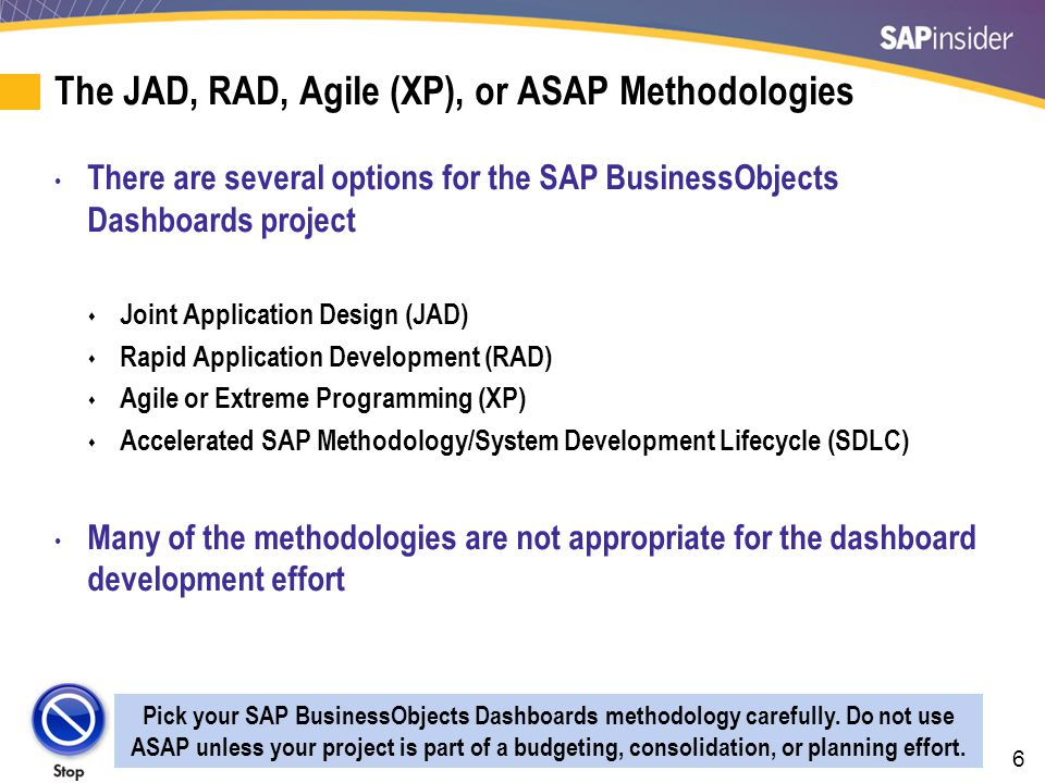 The Waterfall Methodologies Are Not Good for Dashboards