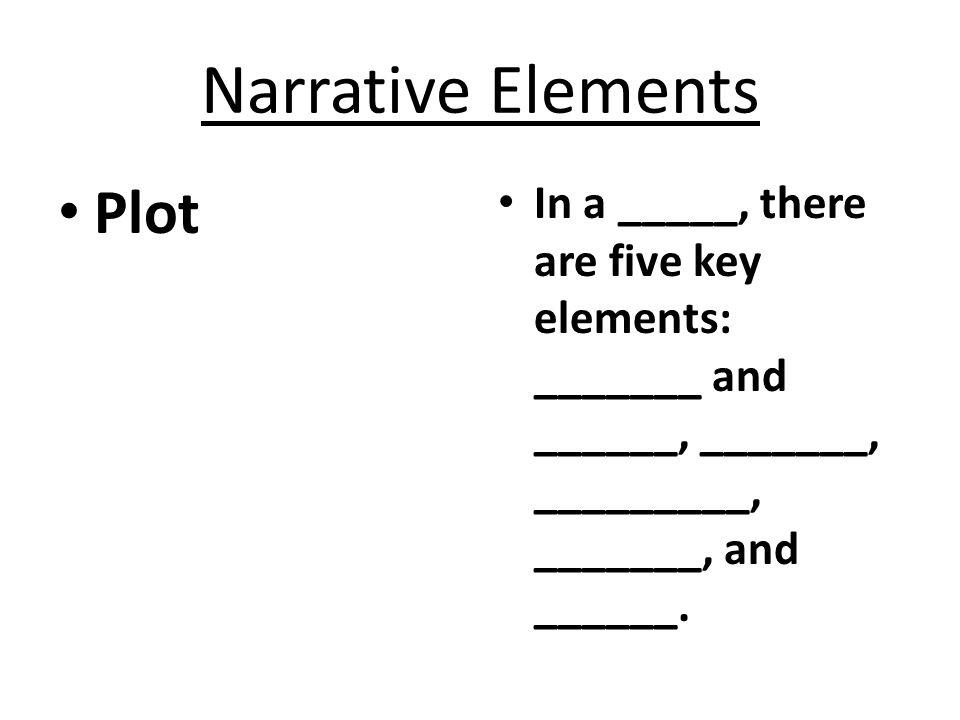 Narrative Elements Plot