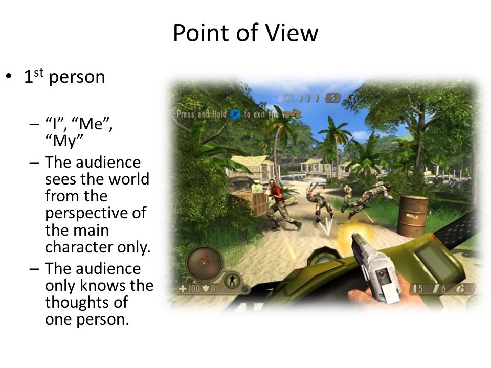 Point of View 1st person I , Me , My