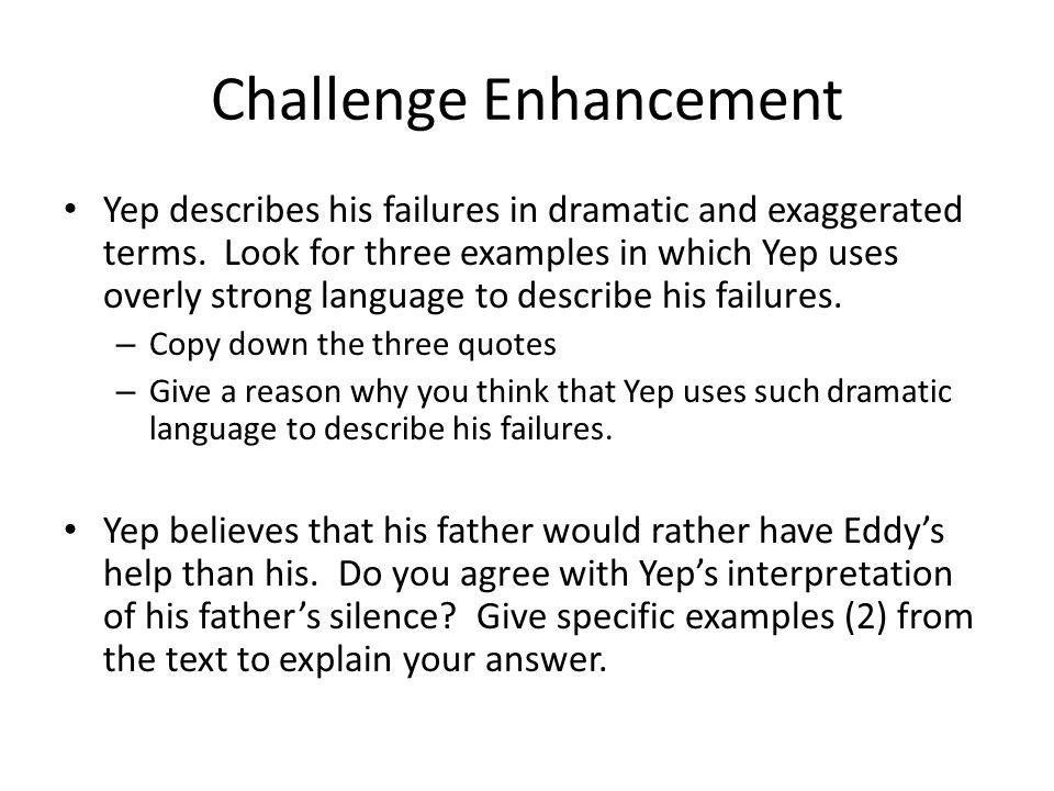 Challenge Enhancement