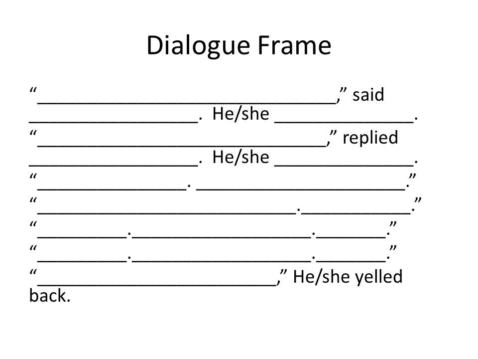 Dialogue Frame
