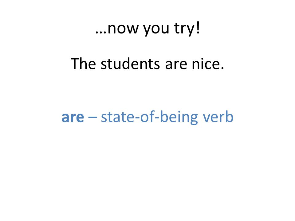 are – state-of-being verb