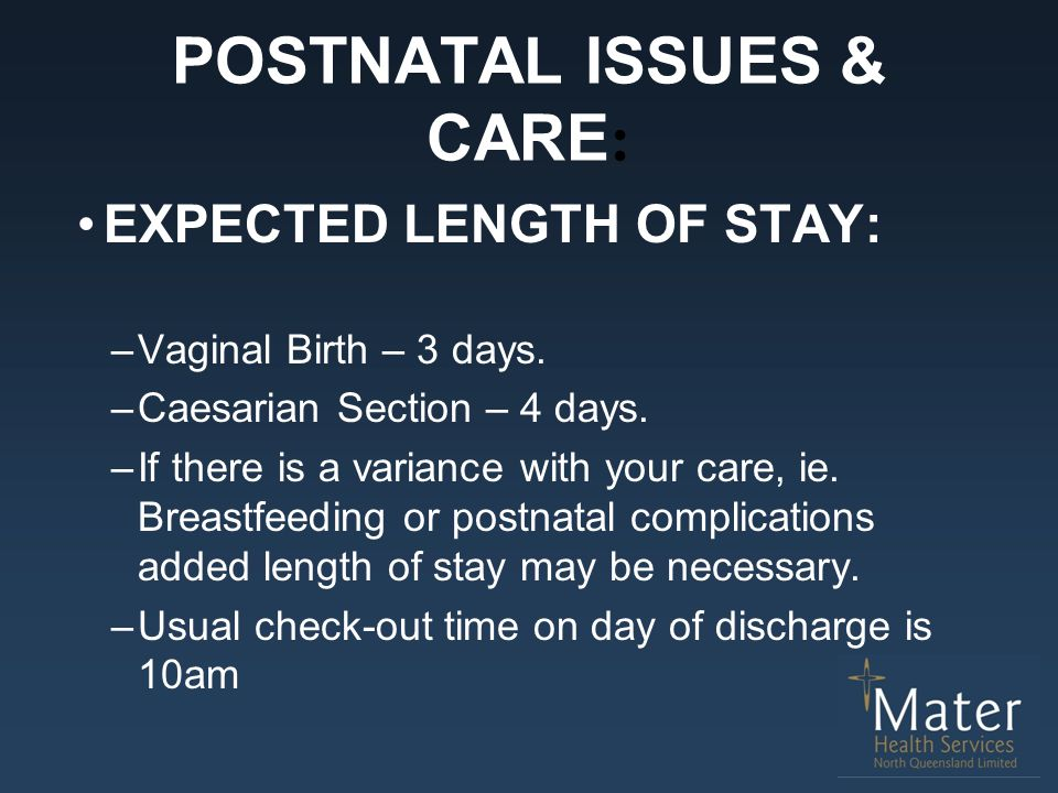 POSTNATAL ISSUES & CARE:
