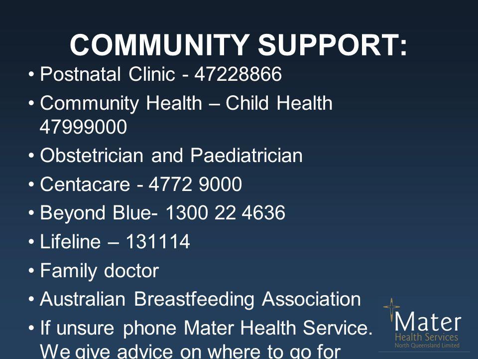 COMMUNITY SUPPORT: Postnatal Clinic - 47228866