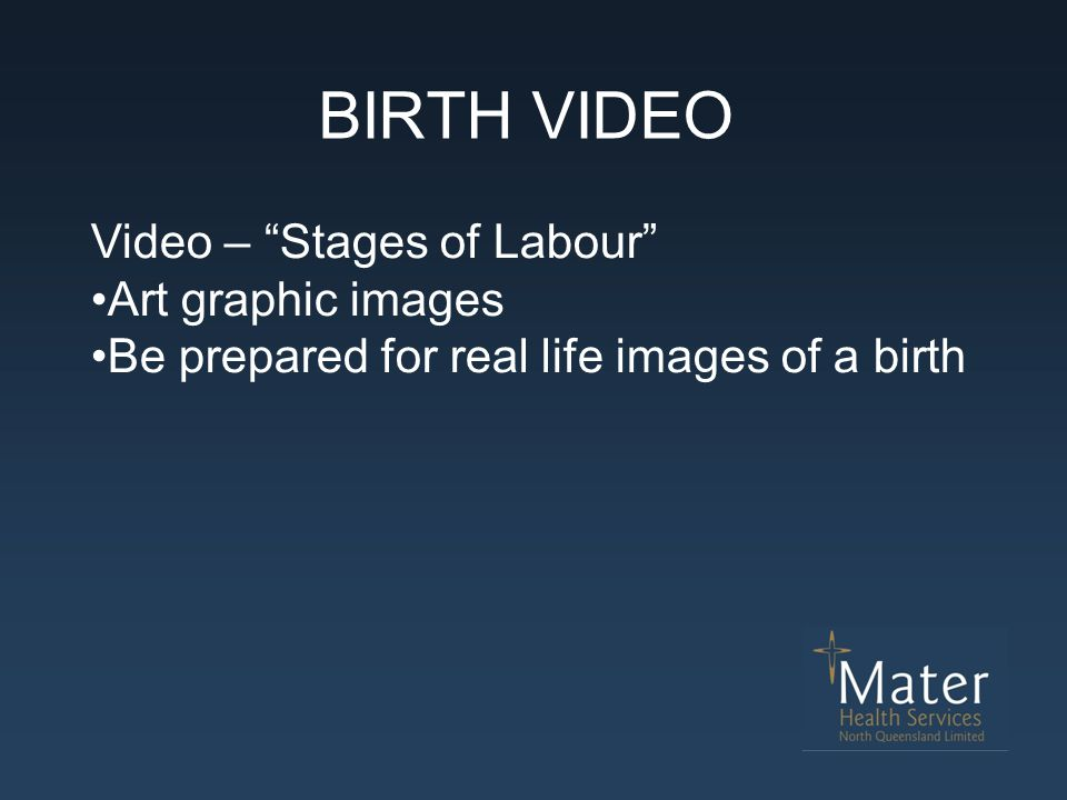 BIRTH VIDEO Video – Stages of Labour Art graphic images