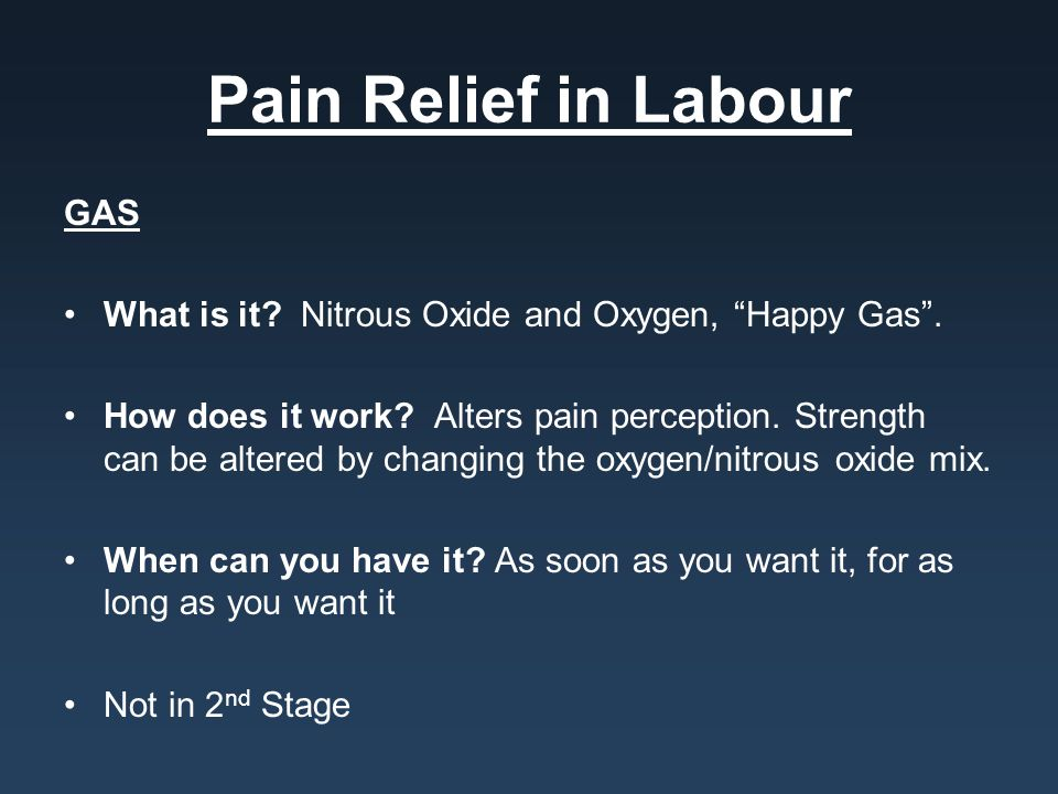 Pain Relief in Labour GAS