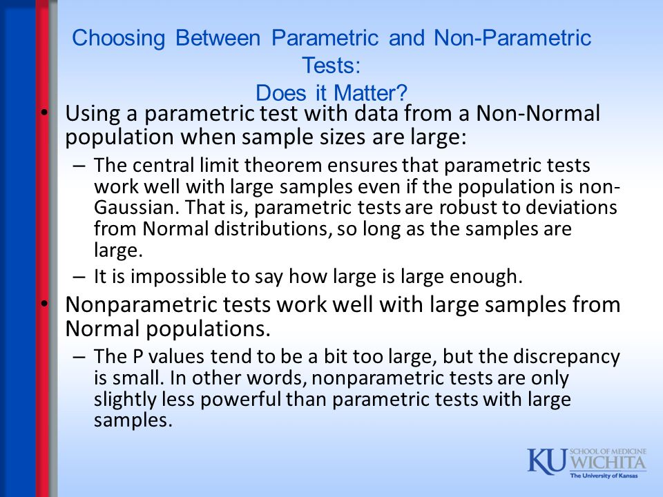 Choosing Between Parametric and Non-Parametric Tests: Does it Matter