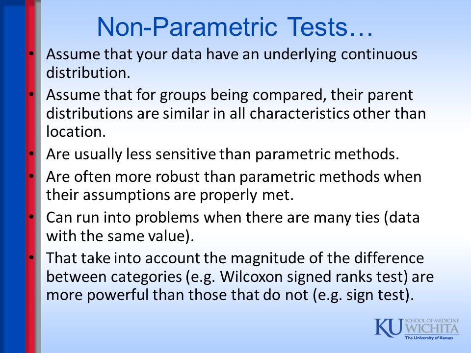 Non-Parametric Tests…