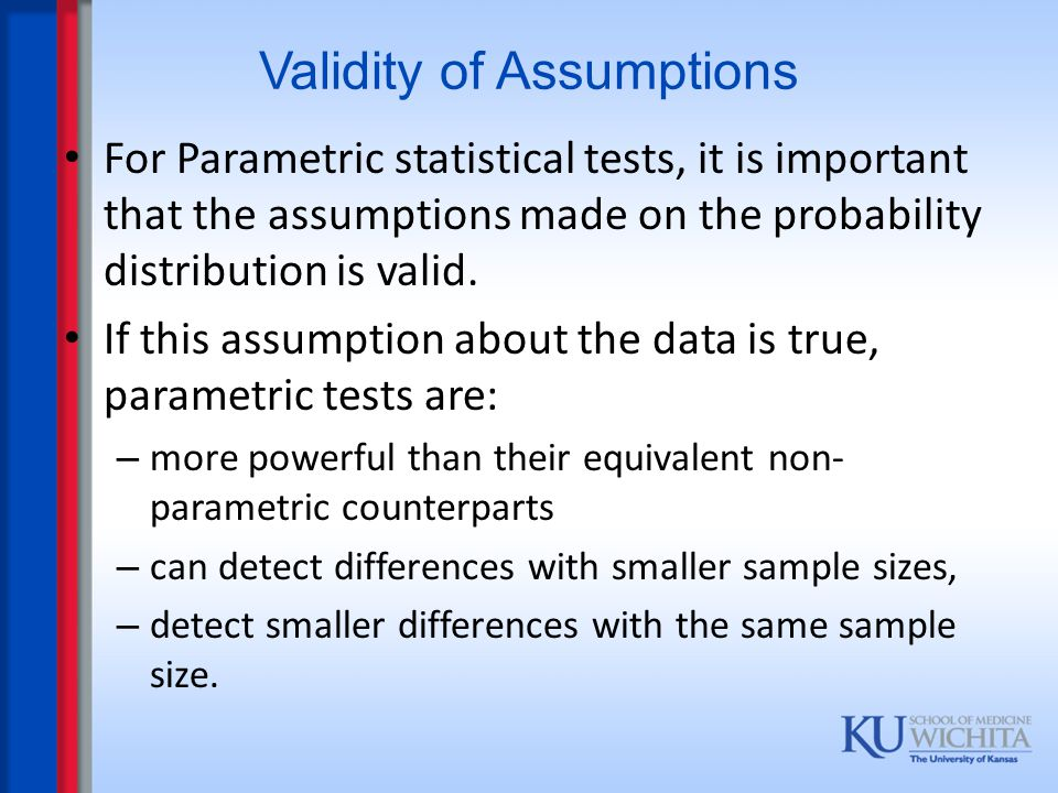 Validity of Assumptions