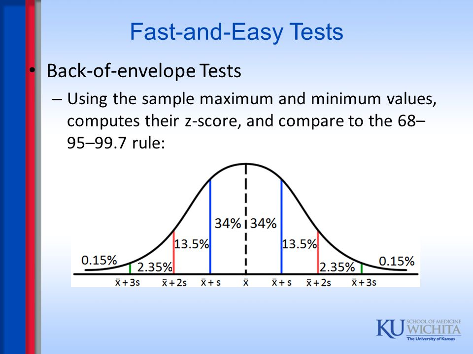 Fast-and-Easy Tests Back-of-envelope Tests