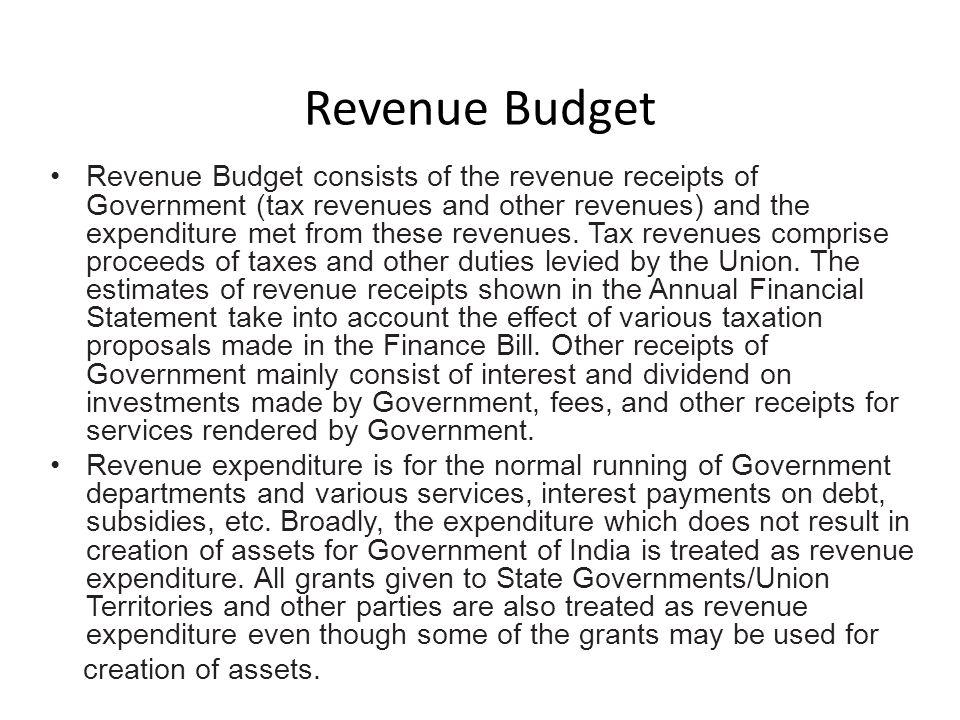 Revenue Budget