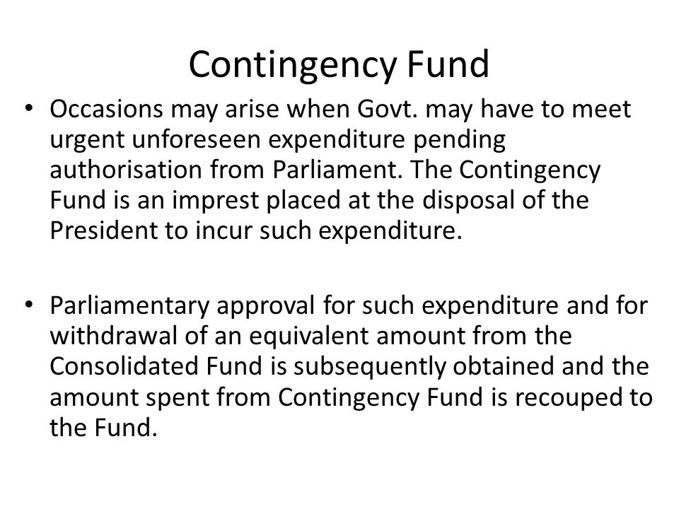 Contingency Fund