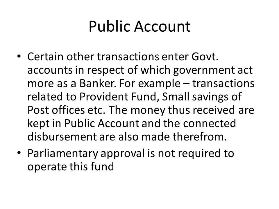 Public Account