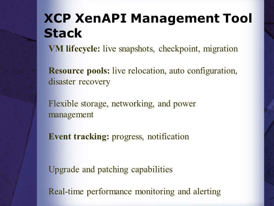 XCP XenAPI Management Tool Stack
