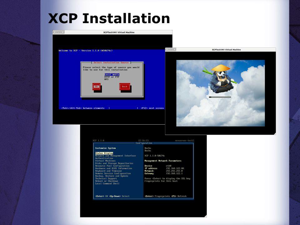 XCP Installation