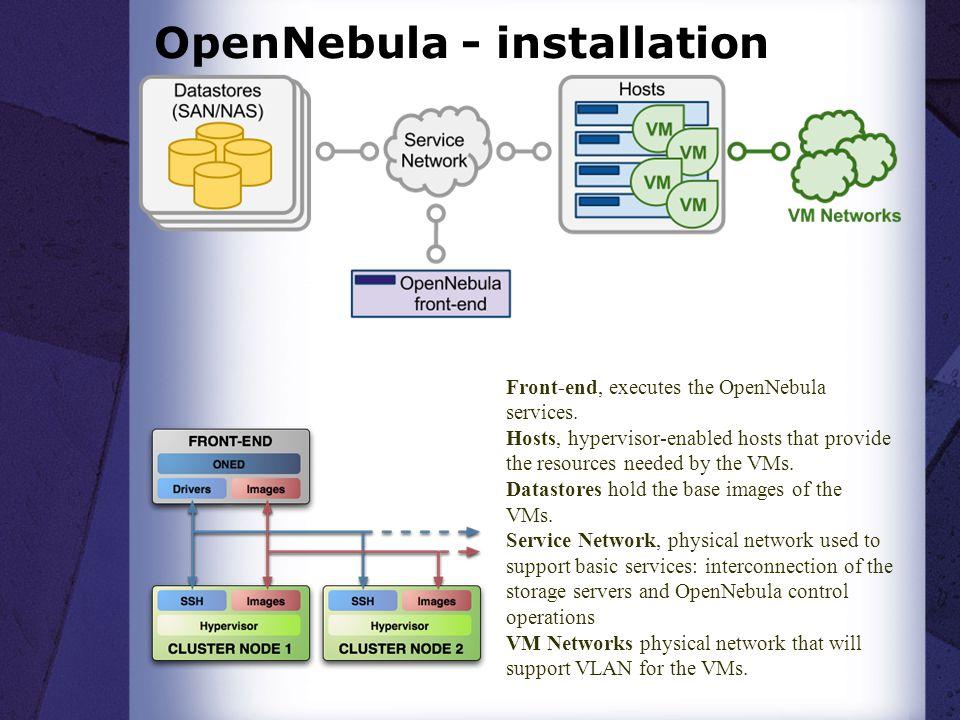 OpenNebula - installation