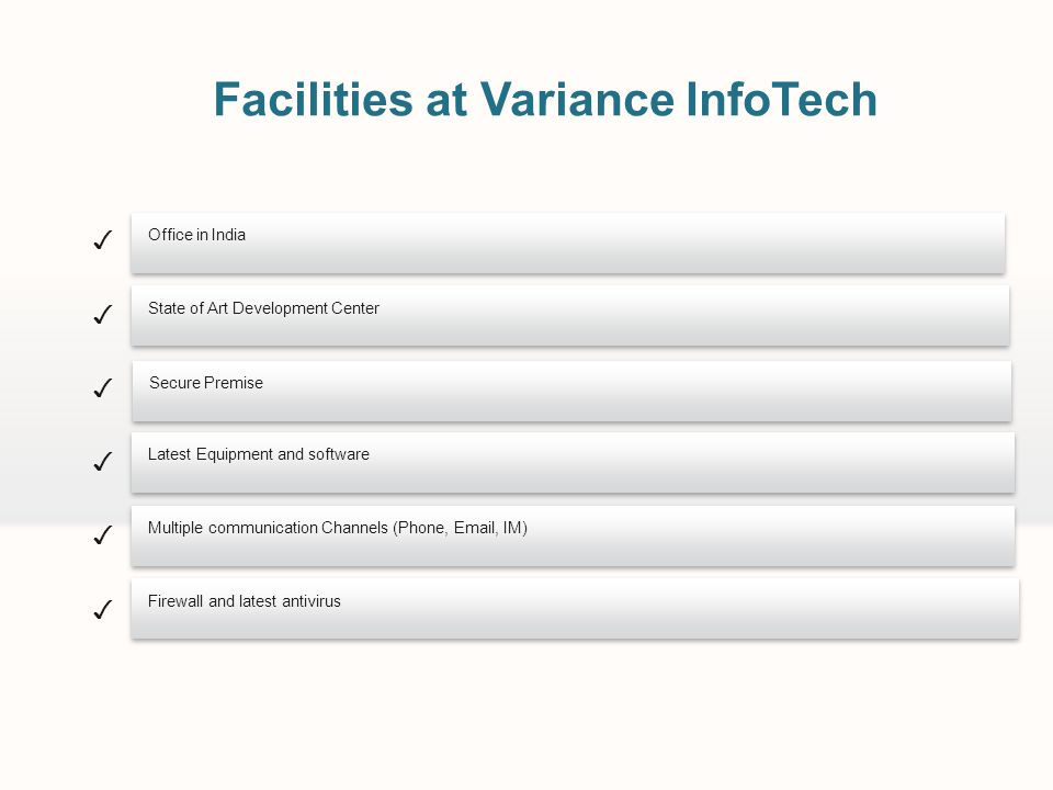 Facilities at Variance InfoTech