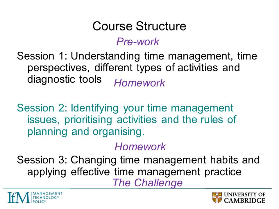 Course Structure Pre-work