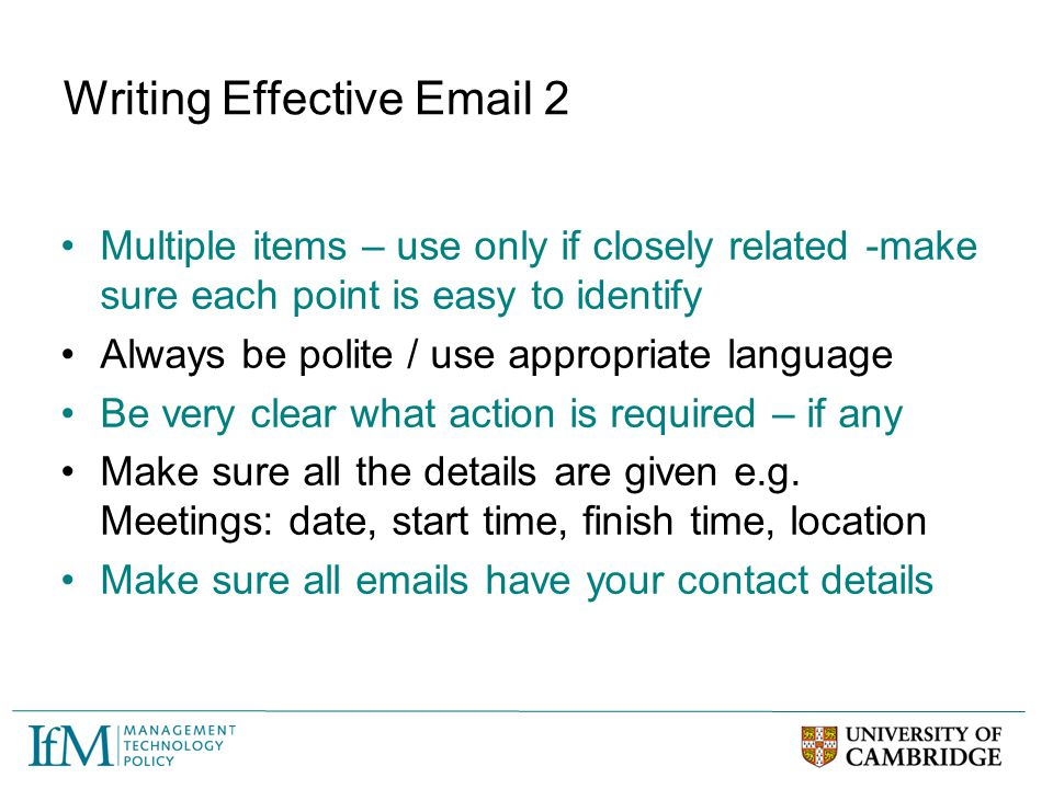 Writing Effective Email 2