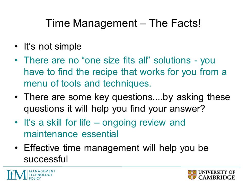 Time Management – The Facts!
