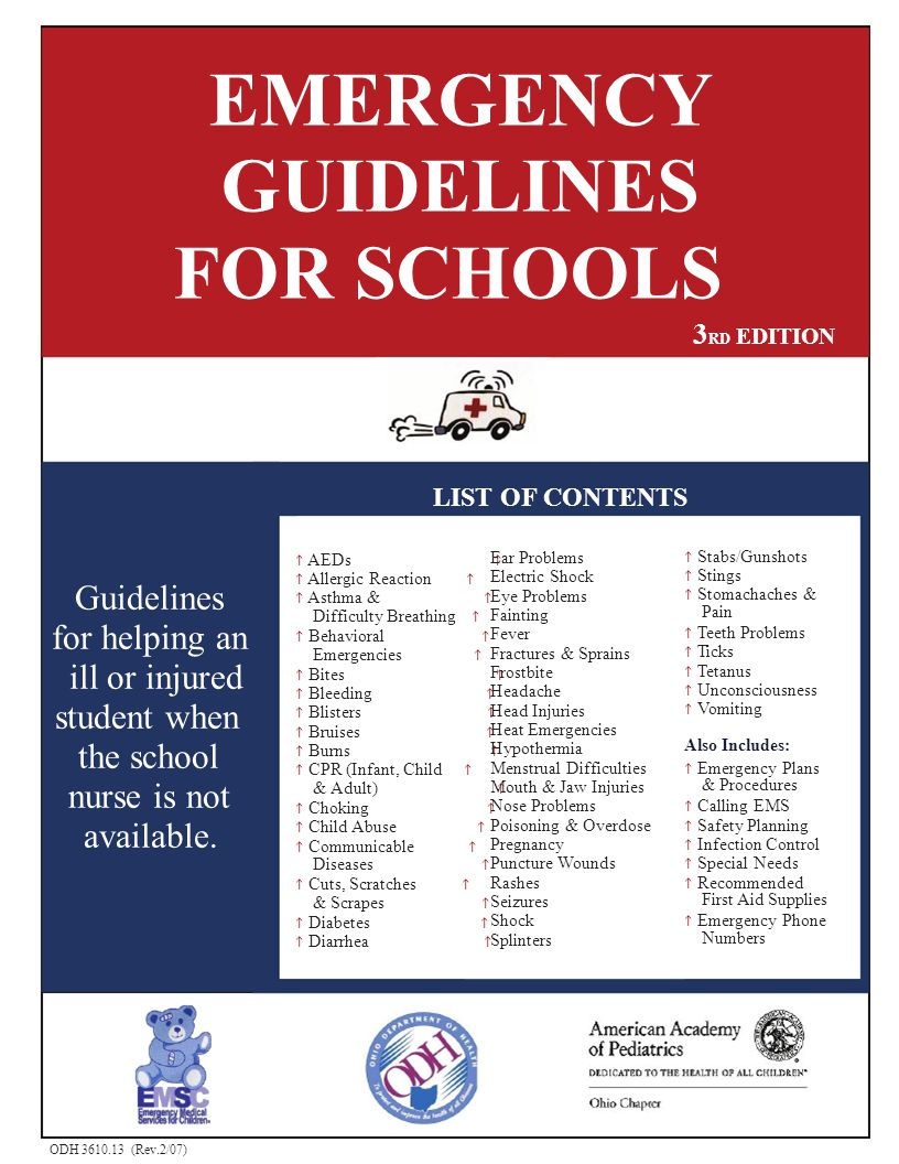 FOR SCHOOLS for helping an EMERGENCY GUIDELINES 3RD EDITION