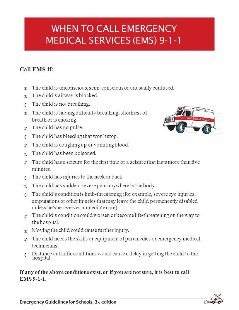 MEDICAL SERVICES (EMS) 9-1-1