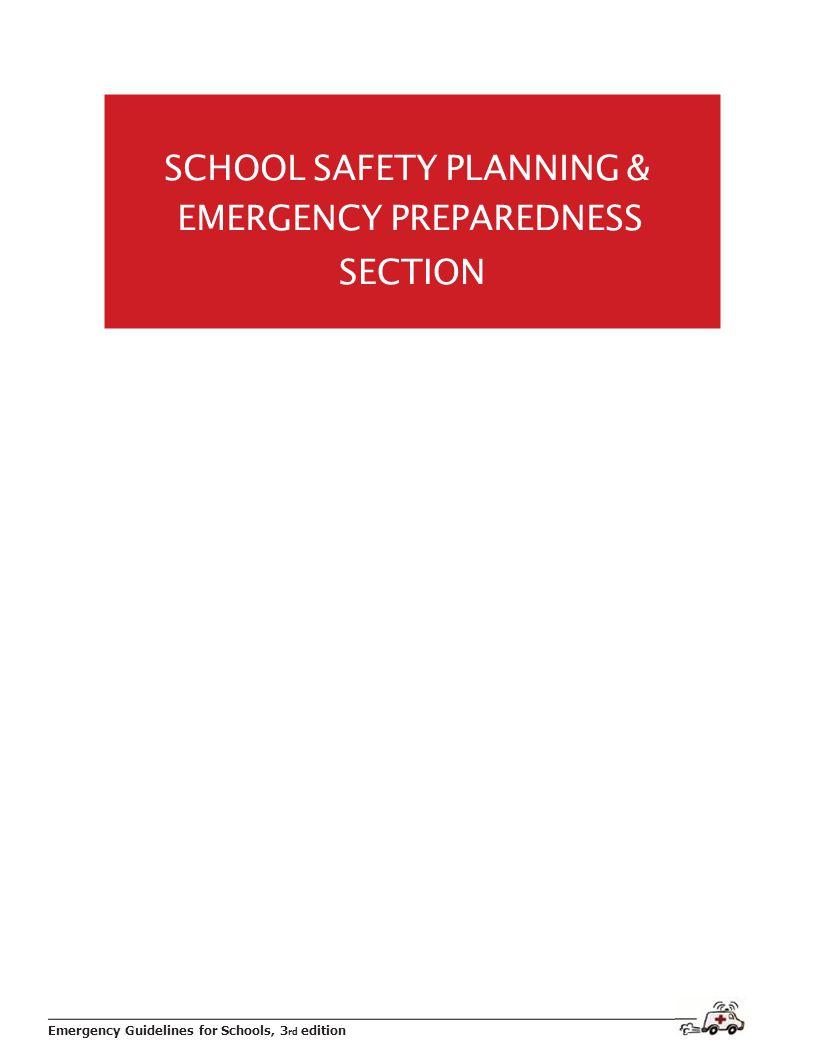 SCHOOL SAFETY PLANNING &