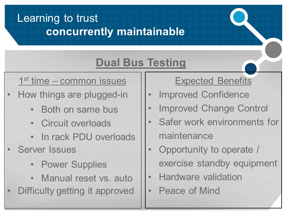 Learning to trust concurrently maintainable