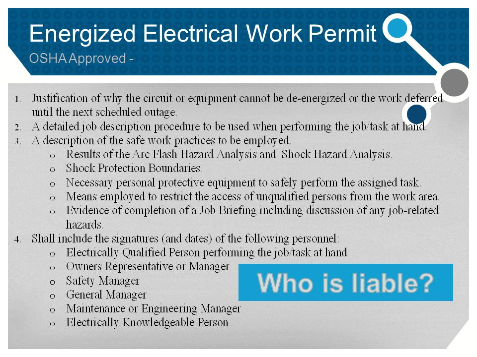 Energized Electrical Work Permit