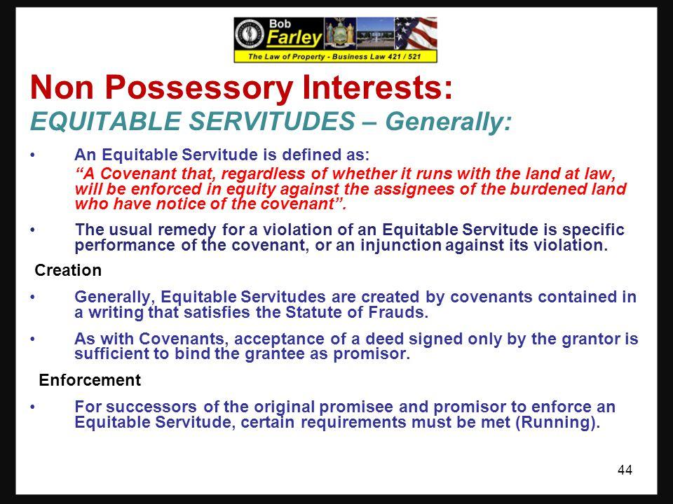 Non Possessory Interests: