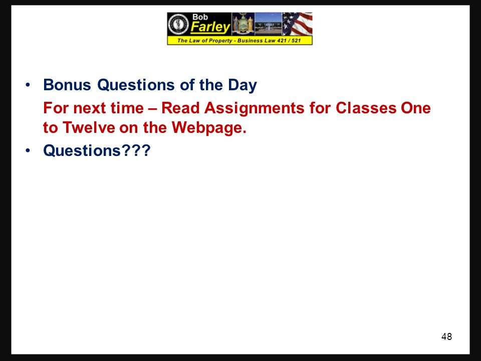 Bonus Questions of the Day