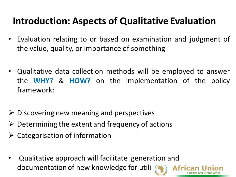 Introduction: Aspects of Qualitative Evaluation