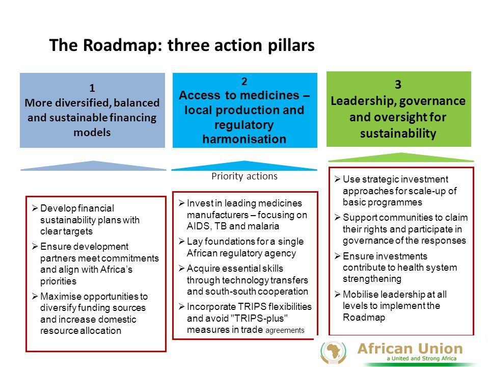 The Roadmap: three action pillars