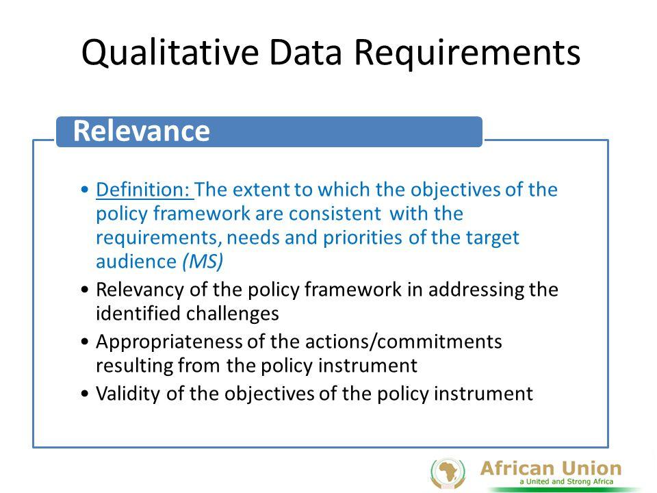Qualitative Data Requirements