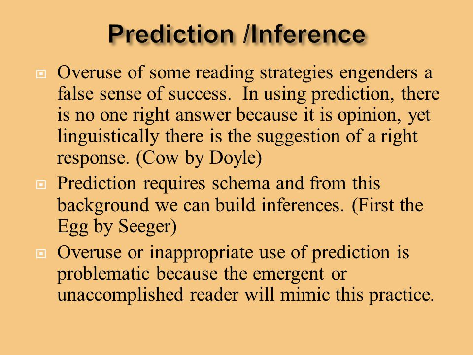Prediction /Inference